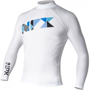 BT1850 NPX Rash guard LS TRIFECTA WHITE