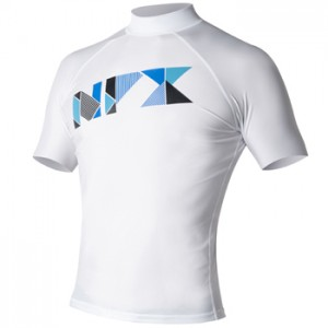BT1851 NPX Rash guard SS TRIFECTA White